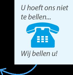 wij bellen u